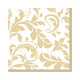 Gold Elegant Scroll Lunch Napkin 16pk - Party Savers