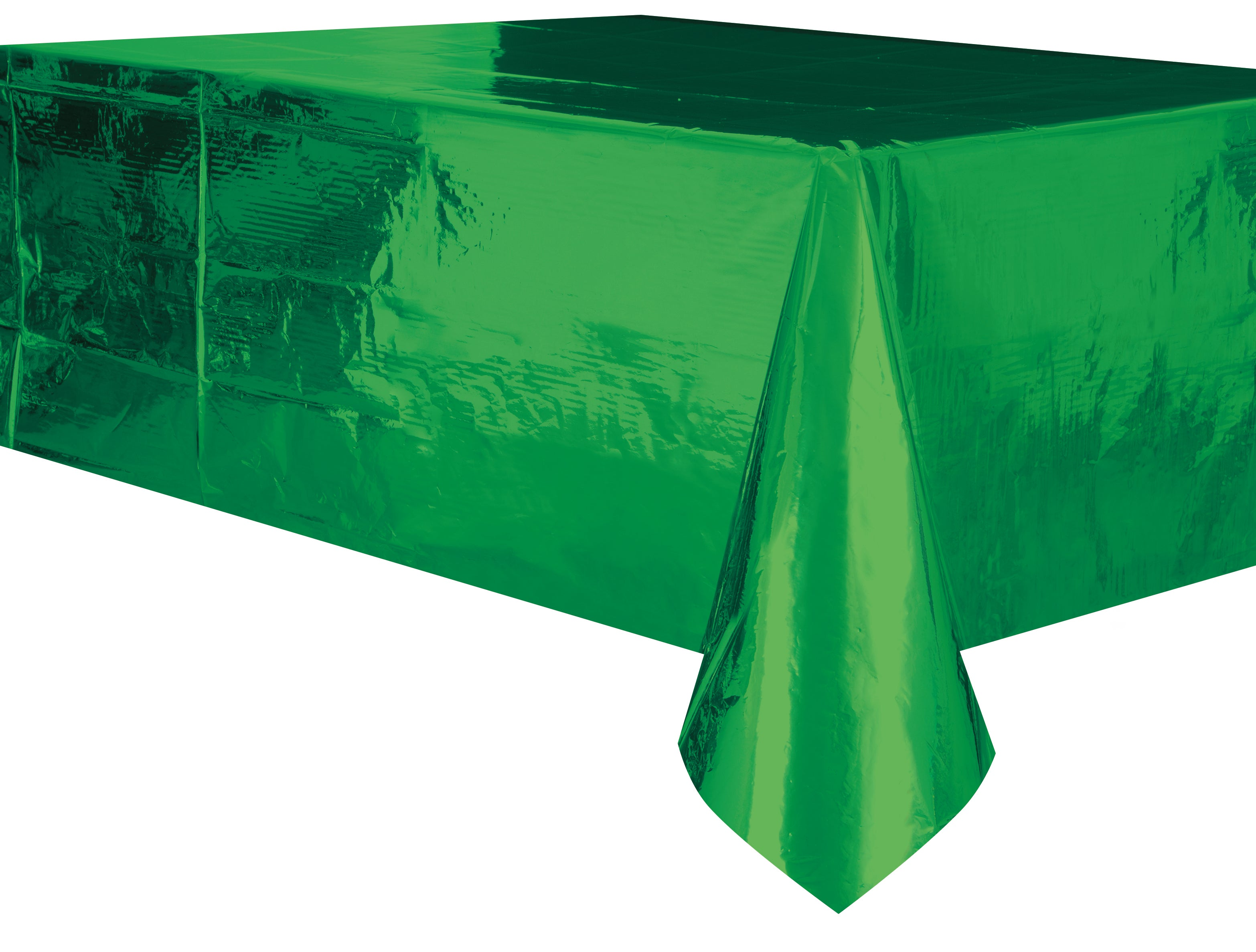 Metallic Green Plastic Rectangle Tablecover 137cm x 274cm