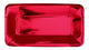 Red Foil Rectangle Appetizer Plates 23cm x 13cm 8pk