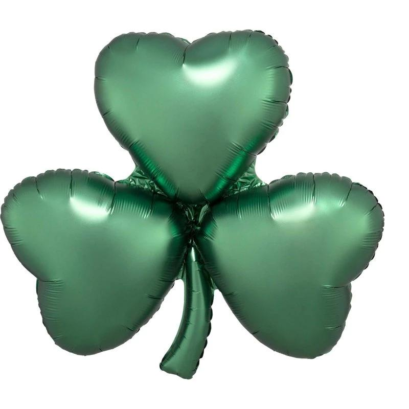 SuperShape Satin Emerald Shamrock - Party Savers