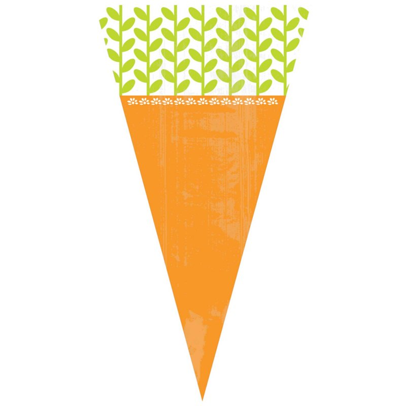 Easter Carrot Shape Treat Bags 15pk - Party Savers