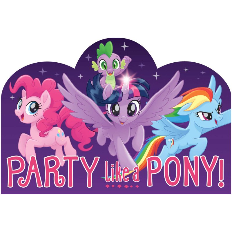 My Little Pony Friendship Adventures Postcard Invitations 8pk - Party Savers