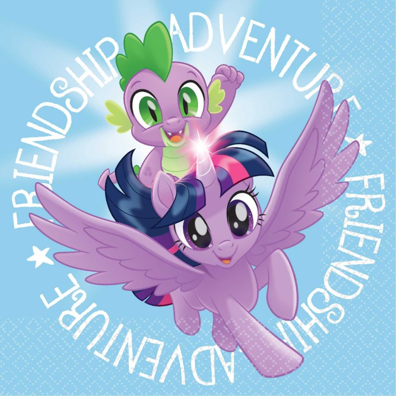 My Little Pony Friendship Adventures Beverage Napkins 16pk - Party Savers