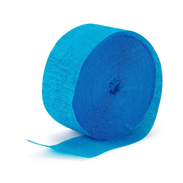 Azure Blue Crepe Streamer 30m