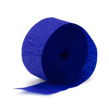Royal Blue Crepe Streamer 30m