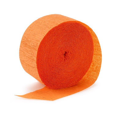 Orange Crepe Streamer 30m