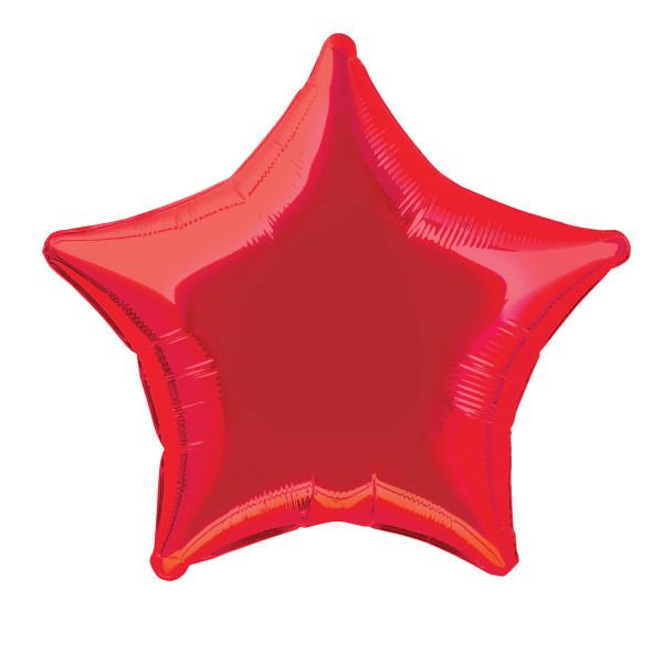 Red Star Foil Balloon 50cm
