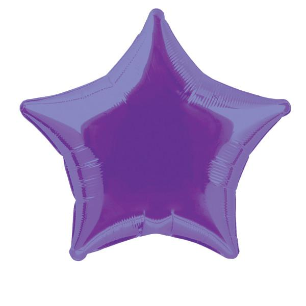 Purple Star Foil Balloon 50cm