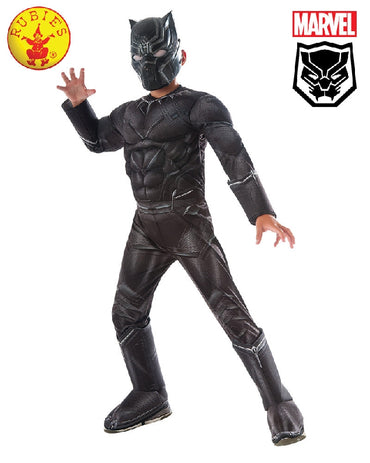 Boys Costume - Black Panther Deluxe