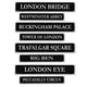 British Street Sign Cutouts 10cm x 61cm 4pk