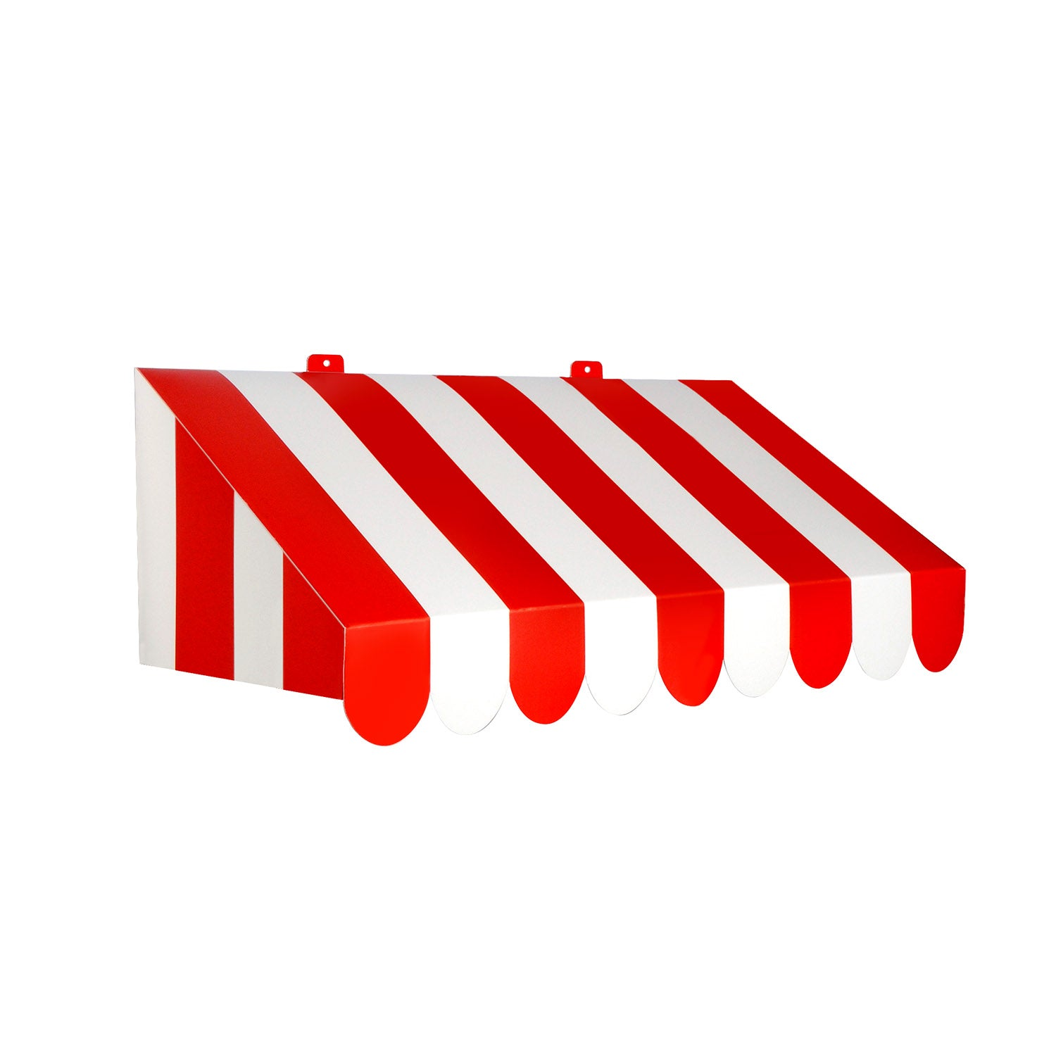 3-D Red & White Awning Wall Decoration