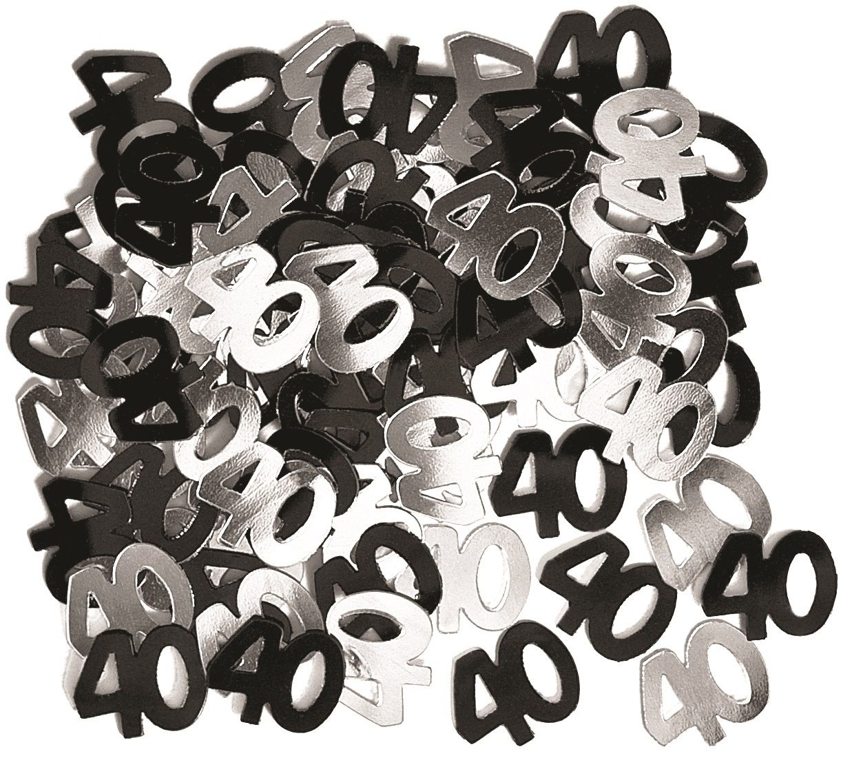 Black Glitz 40th Birthday Confeeti 14gms Party Savers 40th