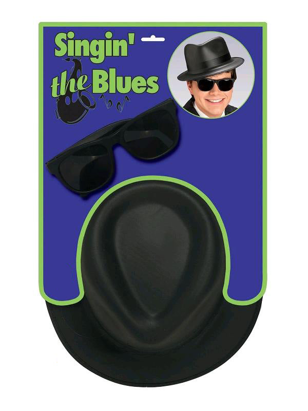 Blues Brothers Hat And Glasses Set