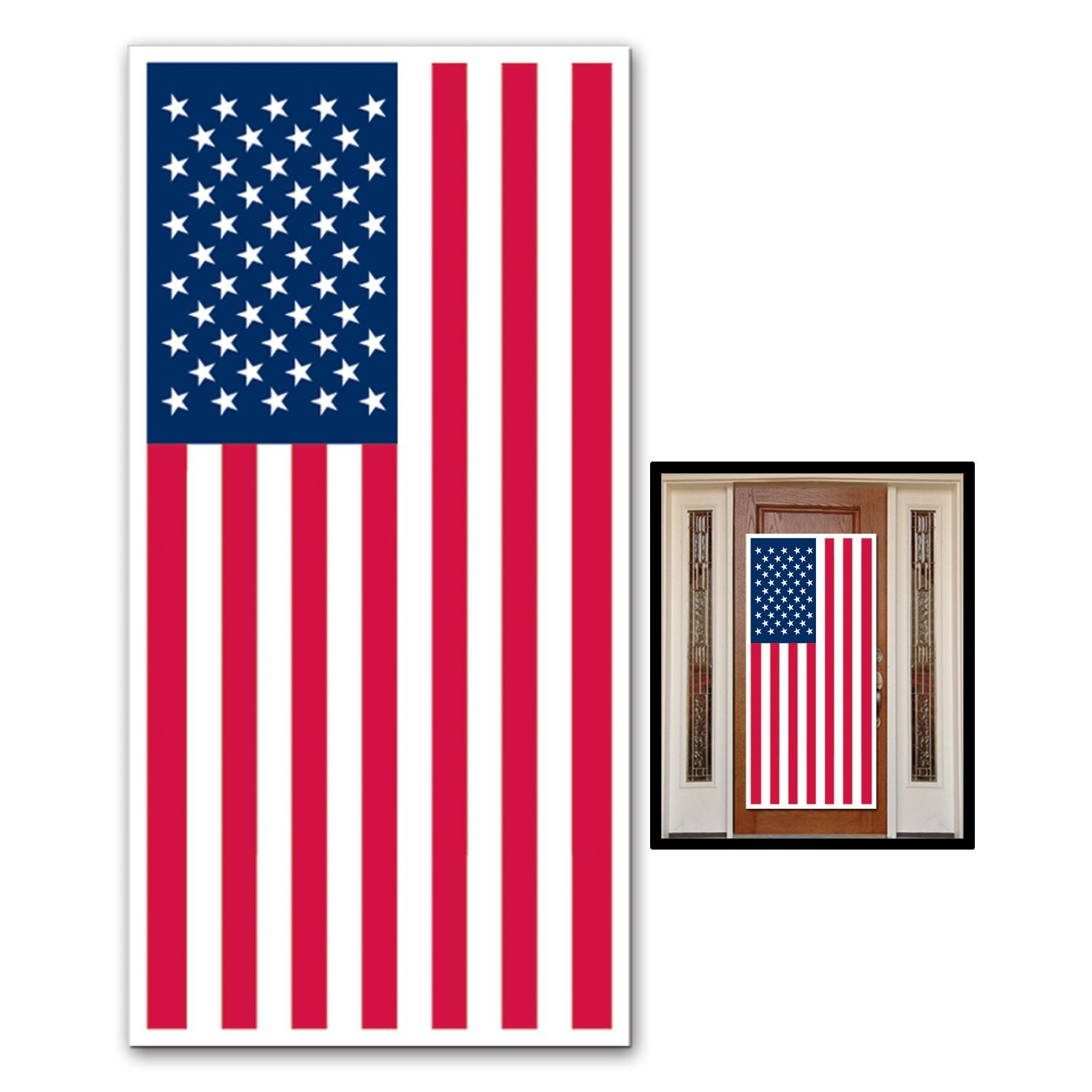 American Flag Door Cover 76cm x 152cm