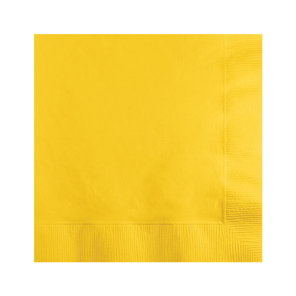 Orange Beverage Napkins 25cm x 25cm 20pk - Party Savers