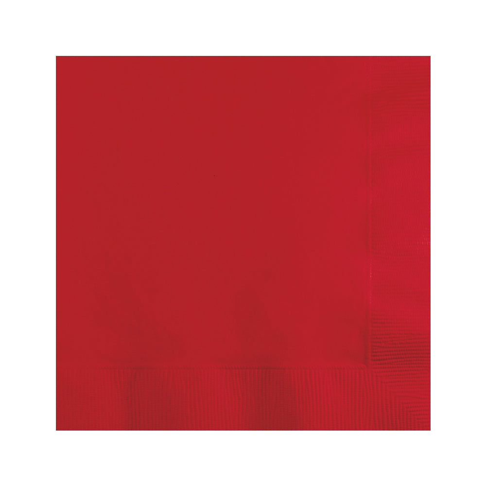 Red Beverage Napkins 25cm x 25cm 20pk - Party Savers