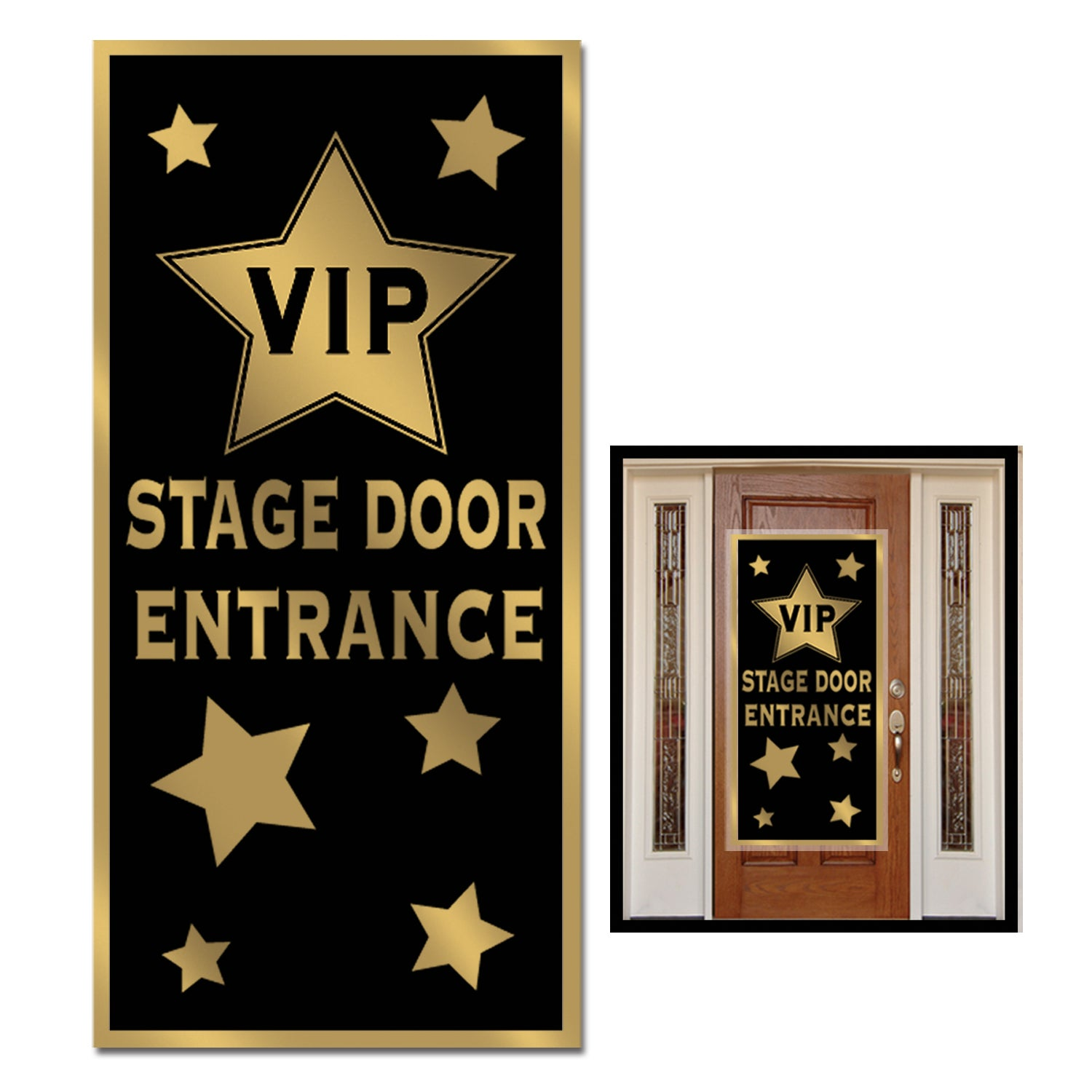 VIP Stage Door Entrance Plastic Door Cover 152cm x 76cm - Party Savers