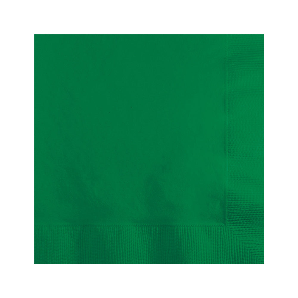 Green Beverage Napkins 20pk