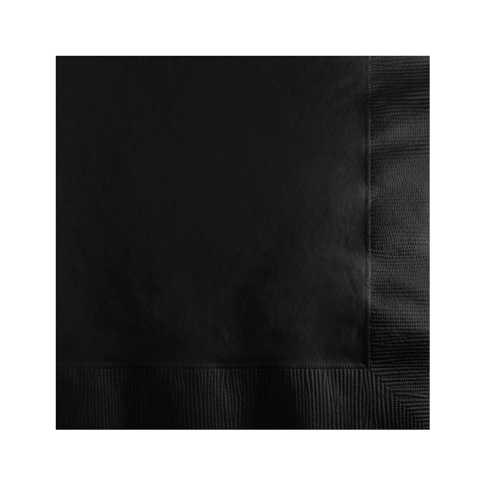 Black Beverage Napkins 20pk