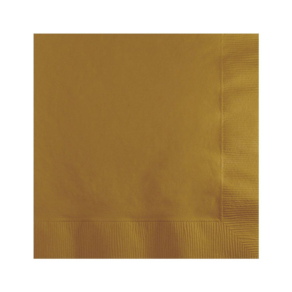 Yellow Beverage Napkins 25cm x 25cm 20pk - Party Savers