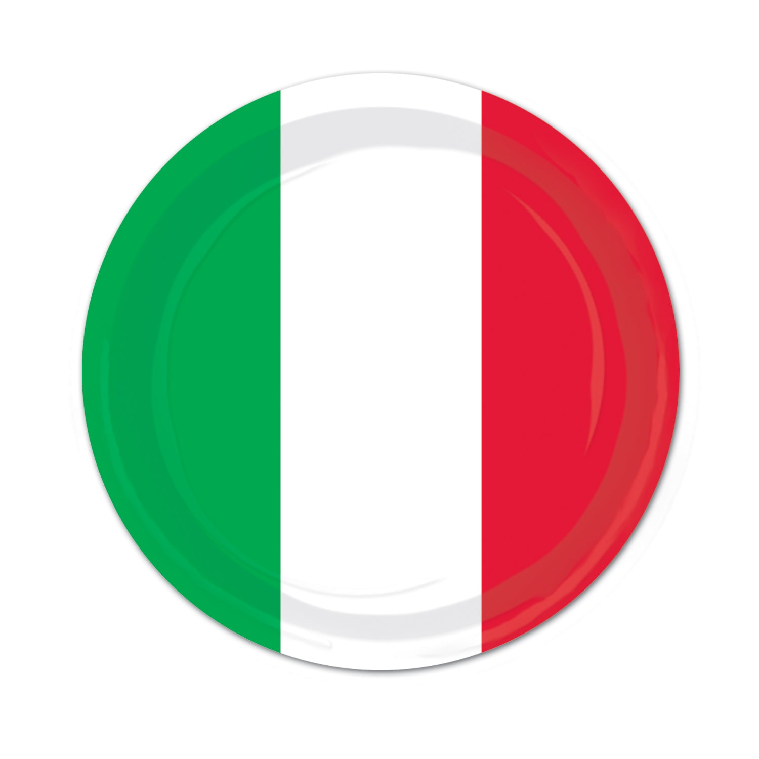 Red, White & Green Plates 23cm 8pk - Party Savers