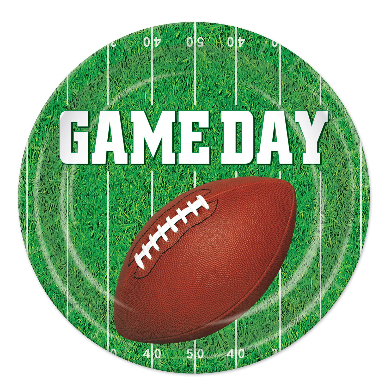 Game Day Football Plates 23cm 8pk - Party Savers