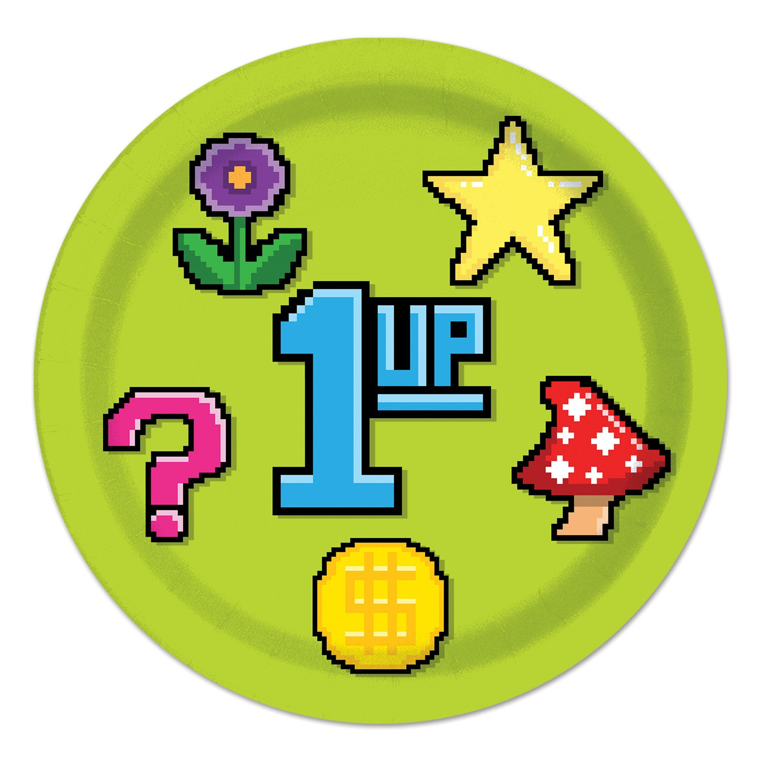 8-Bit Plates 23cm 8pk - Party Savers