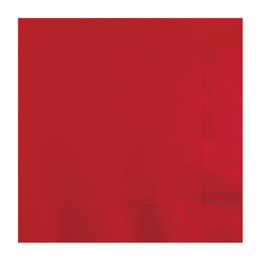 Red Lunch Napkins 33cm x 33cm 20pk - Party Savers