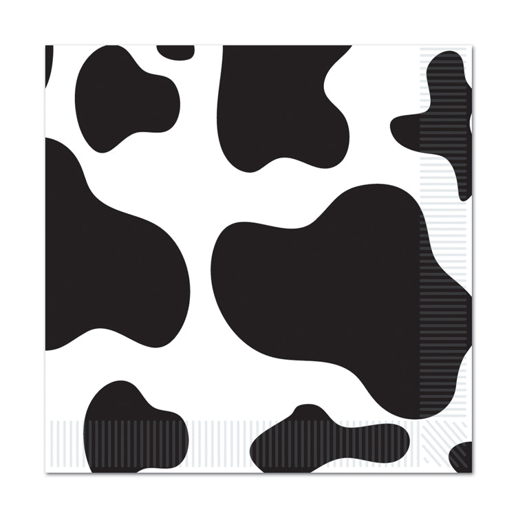 Cow Print Beverage Napkins 16pk - Party Savers