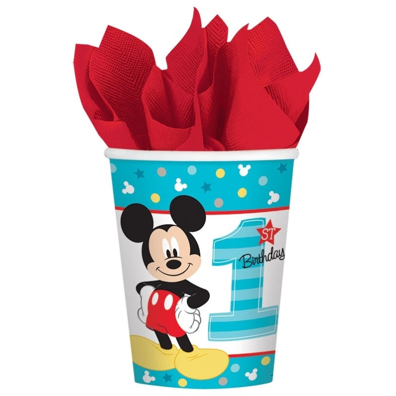 Mickey Mouse Fun To Be One Cups 266ml 8pk