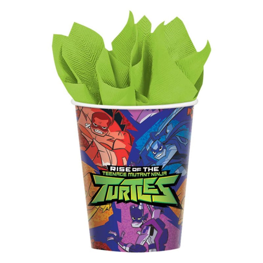 Teenage Mutant Ninja Turtles Cups 266ml 8pk - Party Savers
