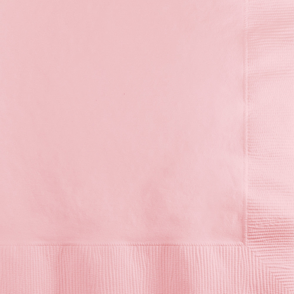 Pastel Pink Dinner Napkins 40cm x 40xm 20pk - Party Savers