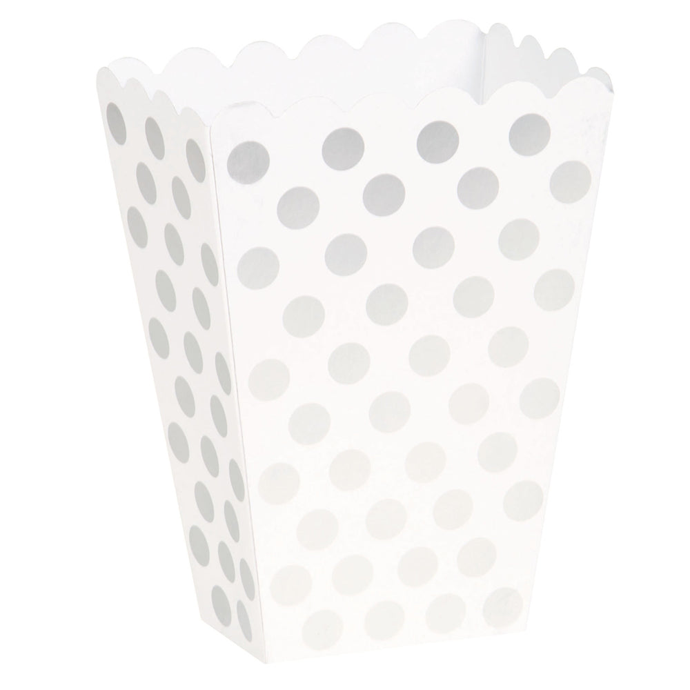 Bright Pink Dots Treat Boxes 8pk - Party Savers