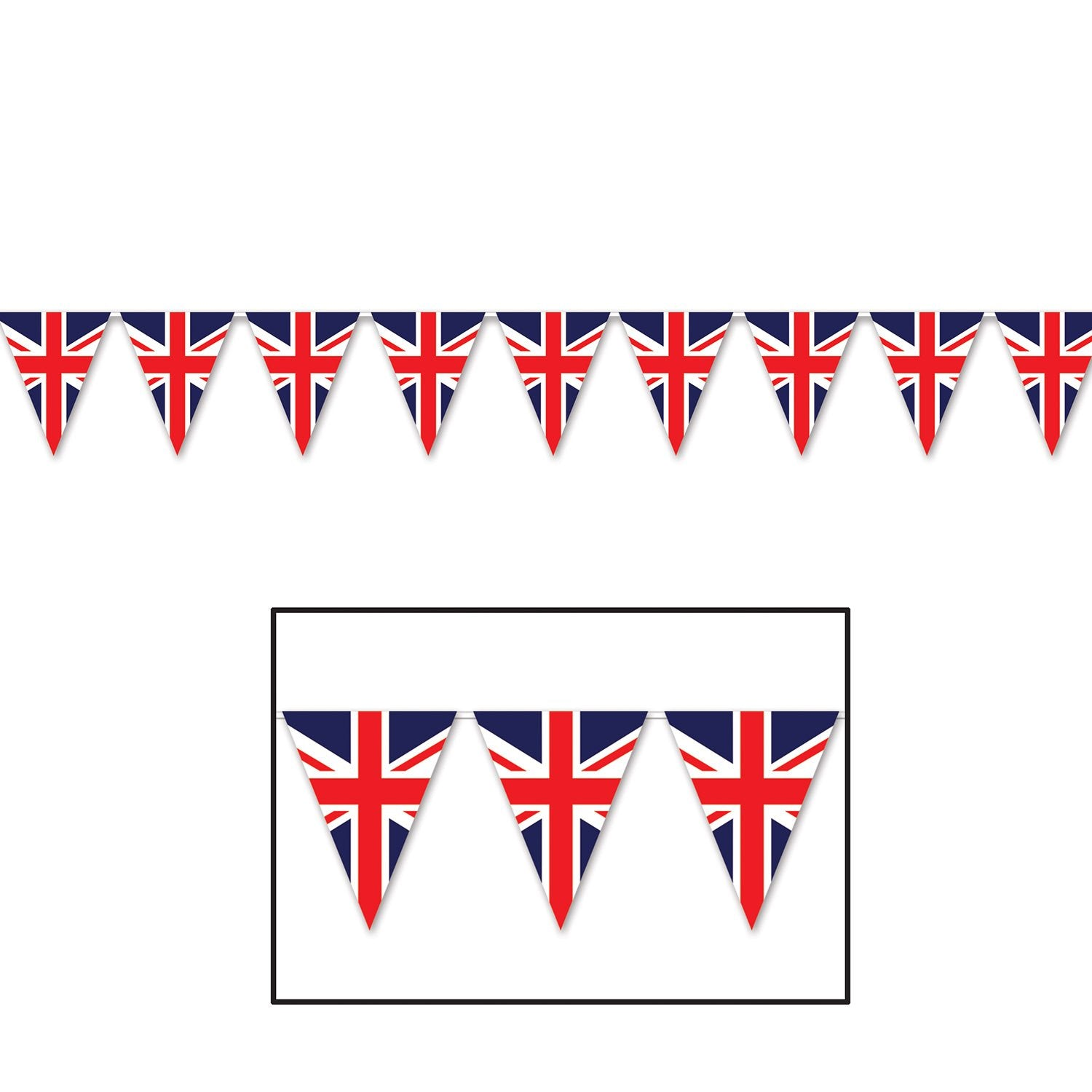 Union Jack Pennant Banner 28cm x 3.65m - Party Savers