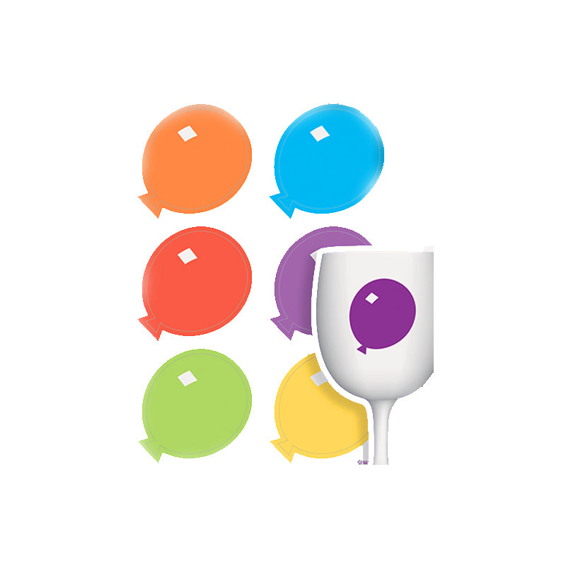 Balloons Cling Drink Markers 6pk