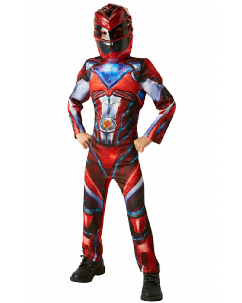 Boys Costume - Power Rangers Red Deluxe