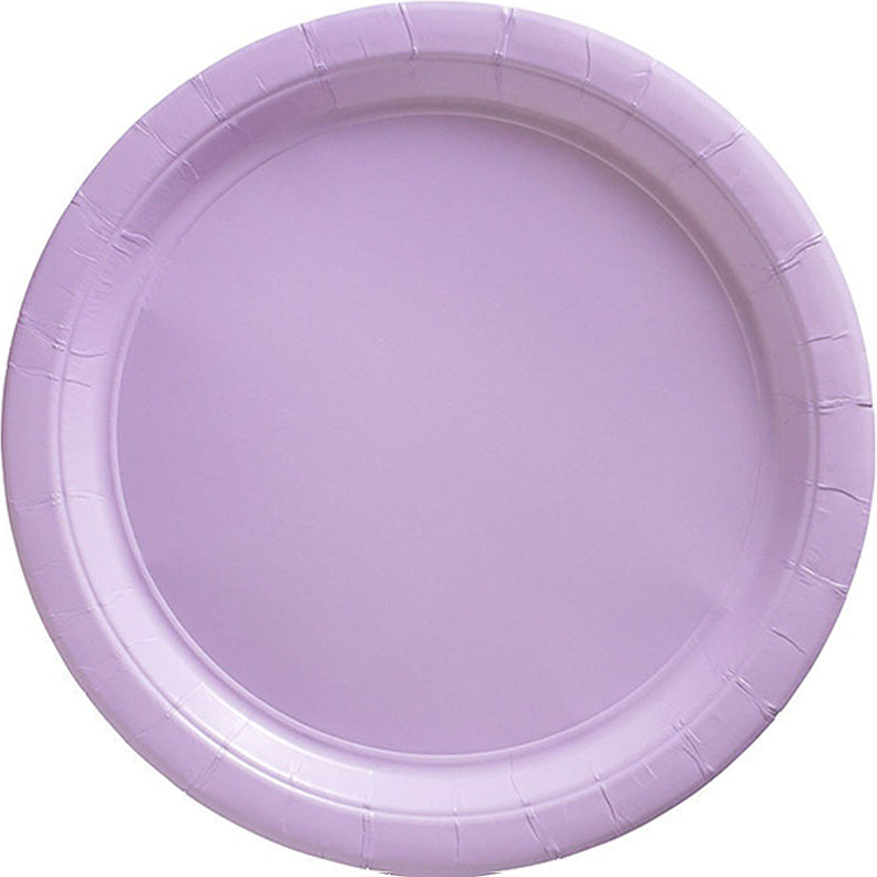 Lavender Round Paper Plates 17cm 20pk - Party Savers