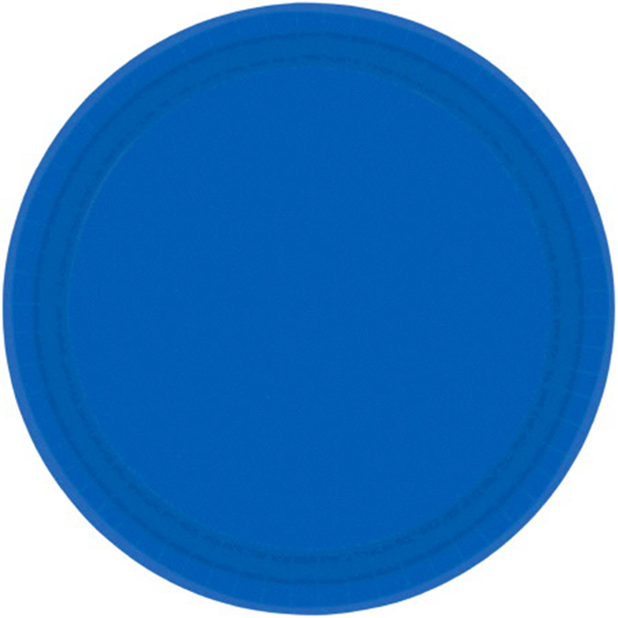 Bright Royal Blue Round Paper Plates 17cm 20pk - Party Savers