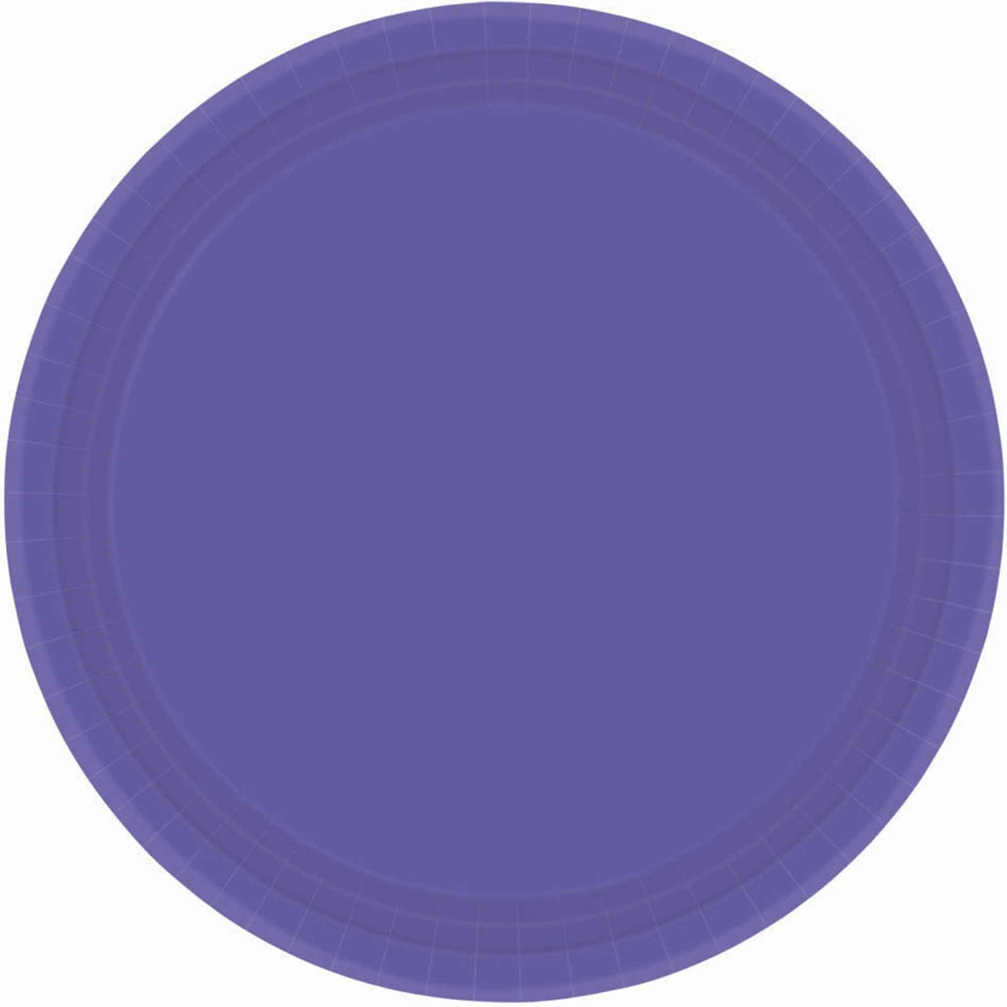 New Purple Round Paper Plates 17cm 20pk - Party Savers