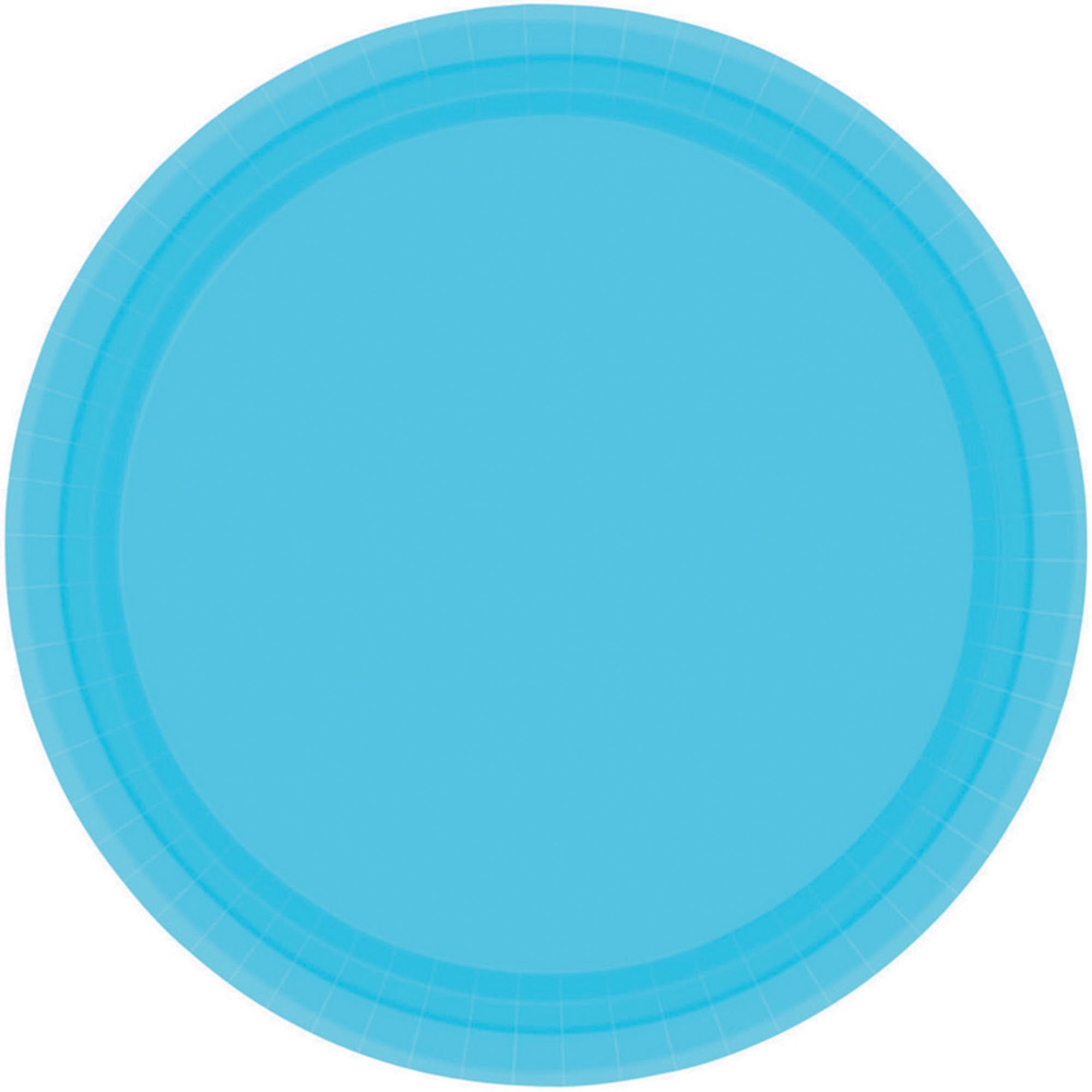 Bright Royal Blue Round Paper Plates 17cm 20pk