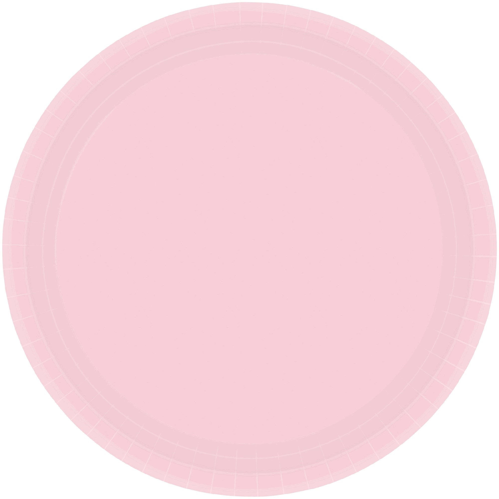 Blush Pink Round Paper Plates 17cm 20pk - Party Savers