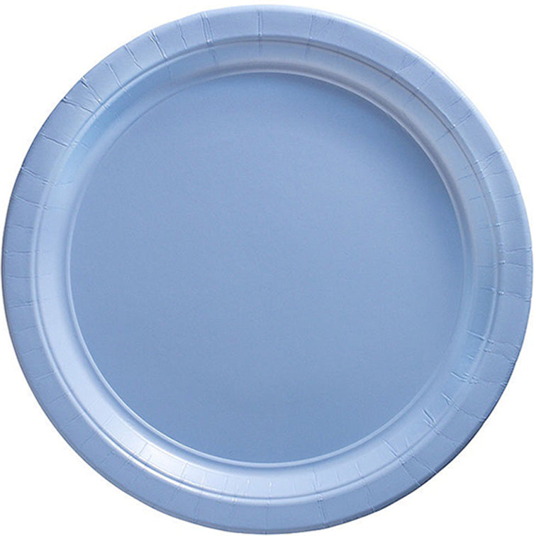Silver Round Paper Plates 23cm 20pk