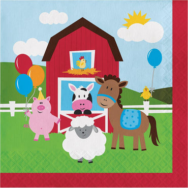 Farmhouse Fun Lunch Napkins 165cm 18Pk