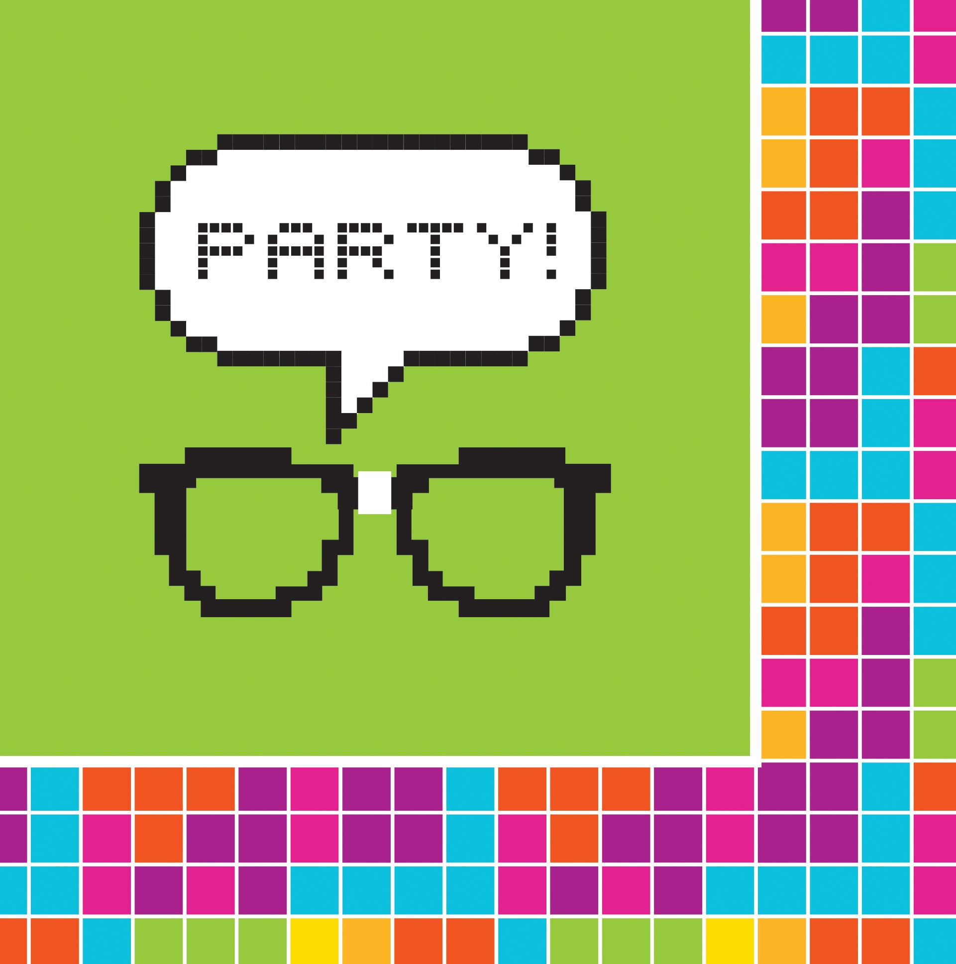 Get Nerdy Luncheon Napkins 16pk - Party Savers