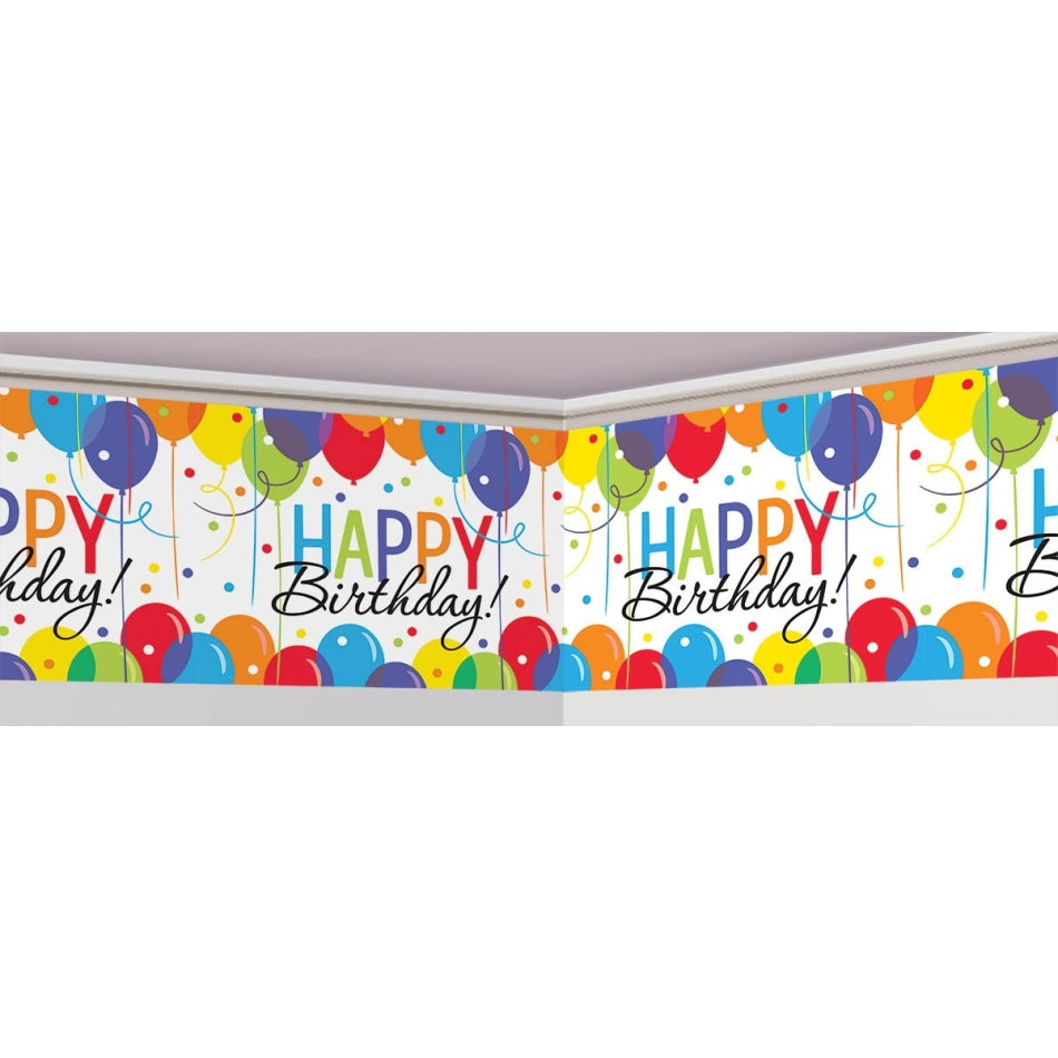 Balloon Bash Banner Roll - Plastic - Party Savers