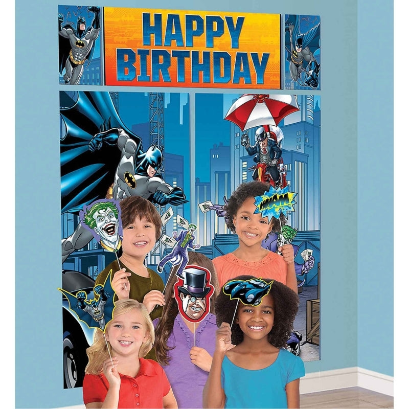 Batman Happy Birthday Scene Setter & Props  17pk