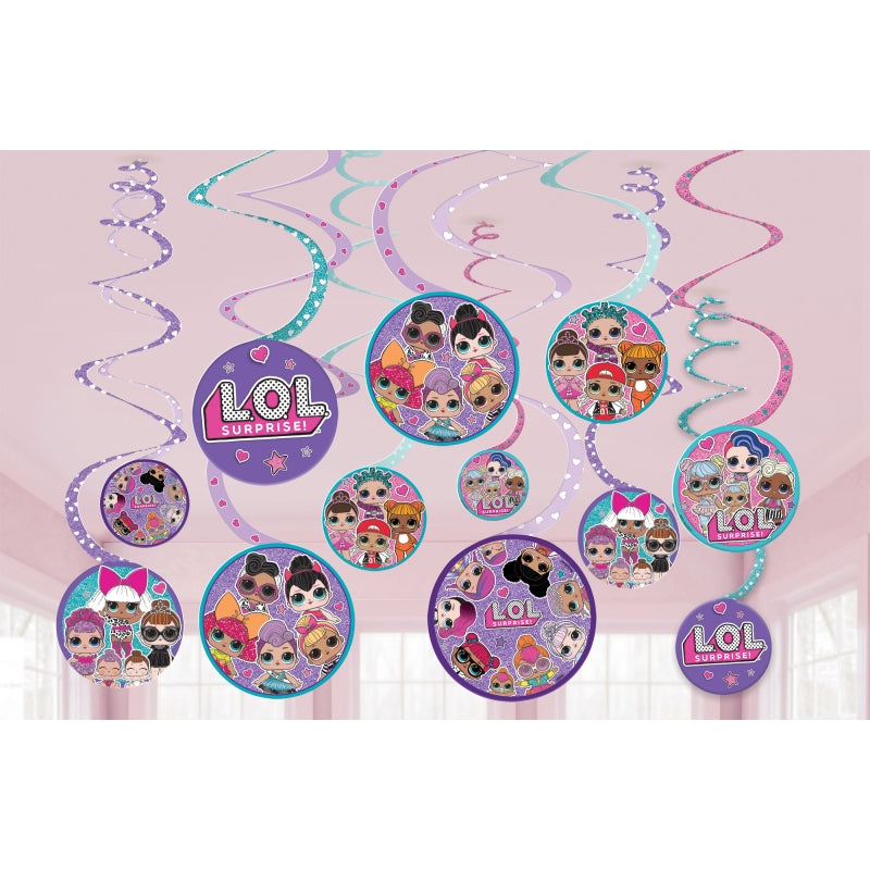 LOL Surprise Value Pack Spiral Decoration 12pk - Party Savers