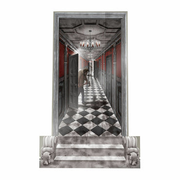 Gothic Mansion Long Hallway Plastic Scene Setters Add-Ons