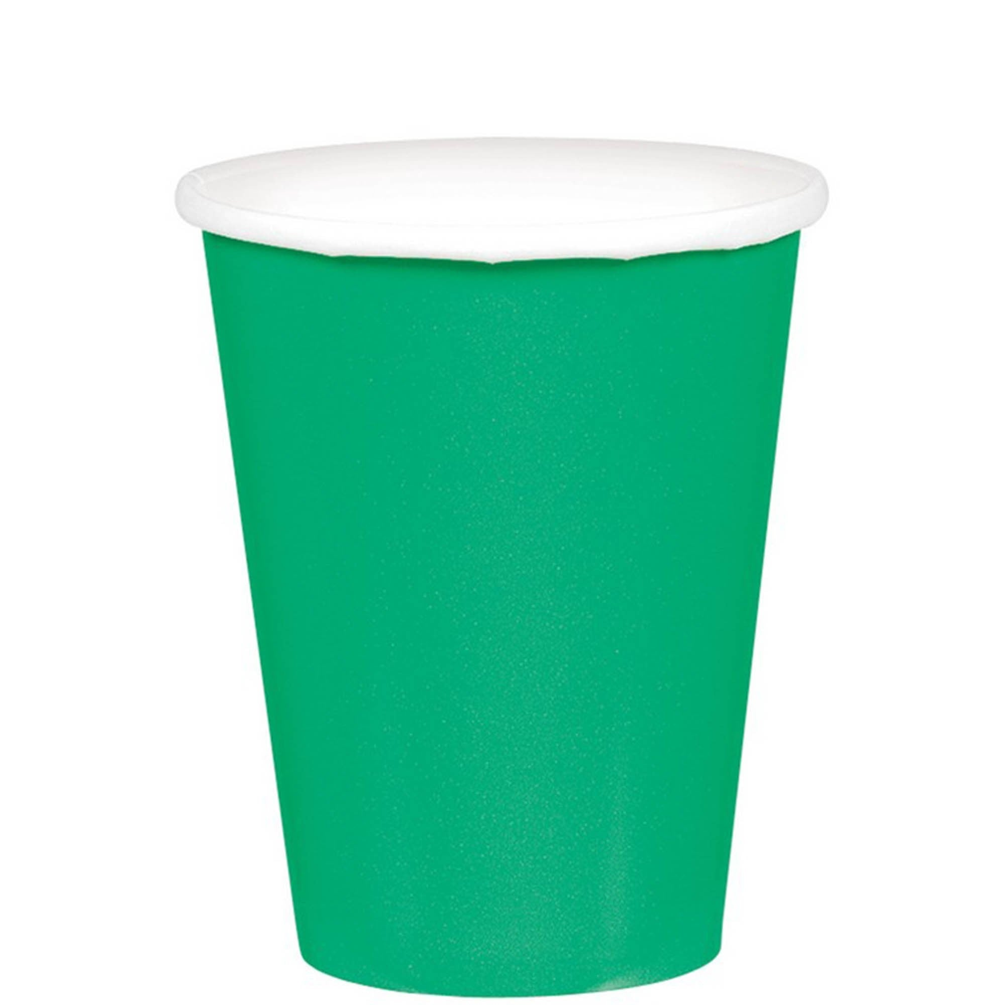 Festive Green Paper Cups 266ml 20pk - Party Savers