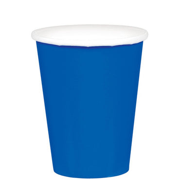 Bright Royal Blue Paper Cups 266ml 20pk